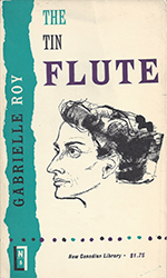 Cover for the 1967 NCL edition of The Tin Flute, by Gabrielle Roy