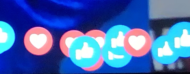 Closeup of Facebook reaction icons