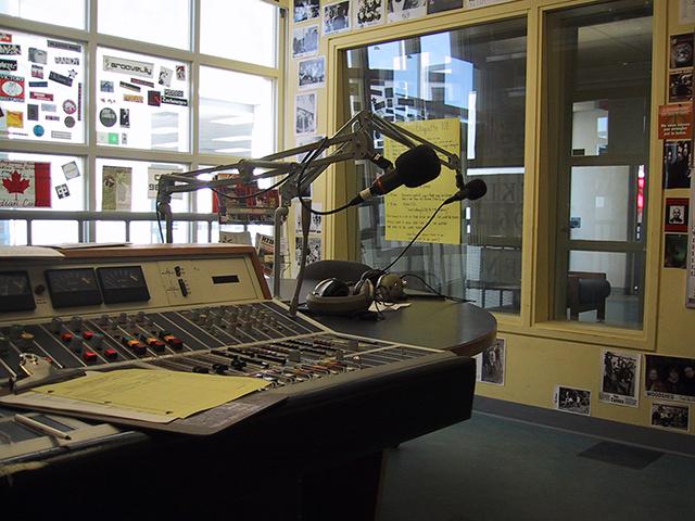 CKLU Radio Booth